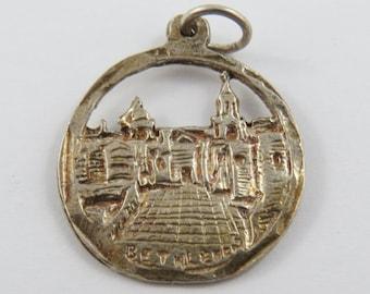 Bethlehem  Sterling Silver Charm of Pendant
