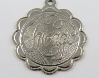 Chicago Sterling Silver Charm of Pendant.
