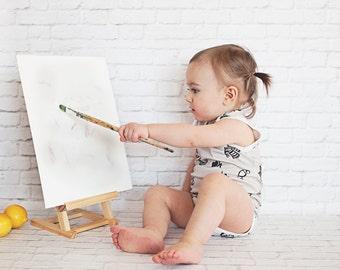 Organic French Baby Onesie Bodysuit | Organic Baby Newborn Onesie | Baby Girl Baby Boy Onesie | Organic Baby Clothing | Baby Bodysuit Gift