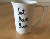 Let Love Live Coffee Mug Eating Disorder Recovery Support Awreness Gift
