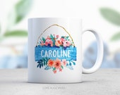 Personalized Coffee Mug - Pretty Mug - Pretty Coffee Cup - Name Mug - Name Cup - Bridal Shower Mug - Bridesmaid Coffee Mug
