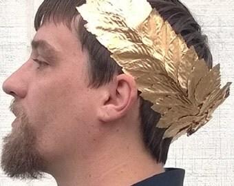 Caesar Crown, Roman Emperor Crown, Toga Crown -Basic Gold