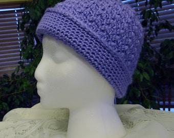 Crochet Beanie Girls Lavender Hat