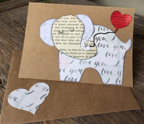 Adorable Elephant Valentine Card