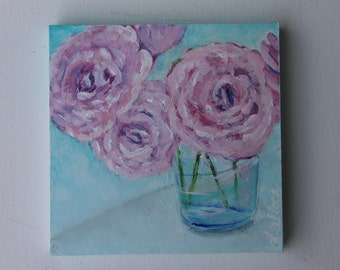 Abstract Floral Painting, Home Decor