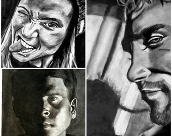 Custom Charcoal Portraits Made To Order