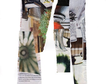 0059 Holiday Christmas recycled collage