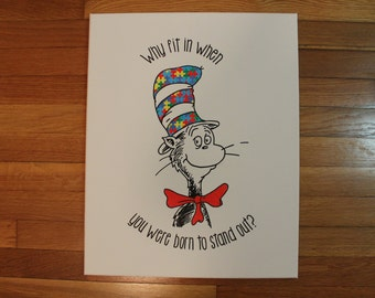 "Quote Canvas/ Cat in the Hat/ 11""x14"""