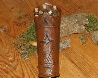 Leather ArmGuard - LARP Alchemy or Compass