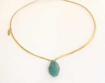 Raw Emeral necklace
