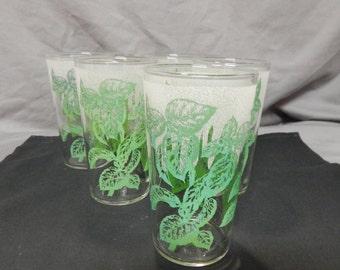 Vintage Drinking Glasses Set of 5
