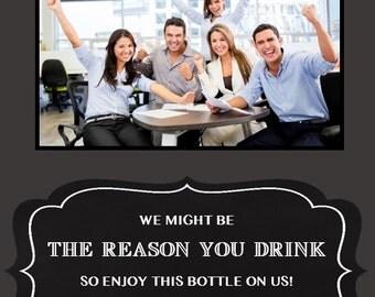Customized Boss Photo Wine Bottle Label