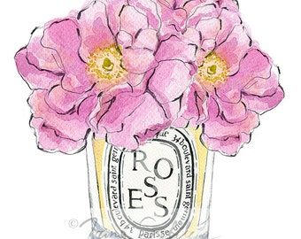 Diptyque Roses (Print)