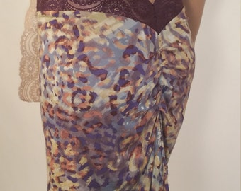 Tango Skirt rayon spadex stretchy with lace