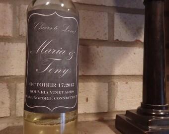 Chalkboard Wine Label Wedding Gift