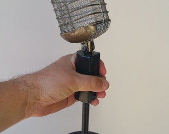 Pyle, Shure, Blair Buttke, Retro radio broadcast news microphone table top decor, home theater, music room, DJ mike man cave recording star