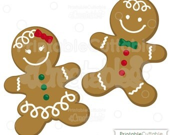 Gingerbread Cookies SVG Cut File & Clipart - Includes Limited Commercial Use!
