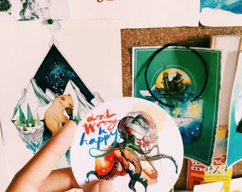 vinyl sticker 'dont worry be happy'