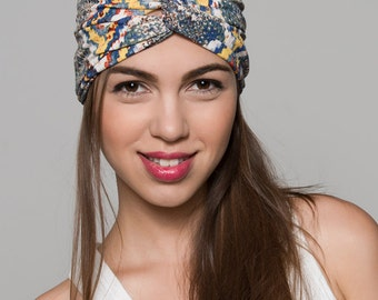 Yellow Turban, Blue Turban Headband, Yellow Twisted Headband, Colorful Headband, Colorful  Turban, Yoga Headband, Turban Headband