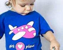 Girl Plane Shirt, Pink Plane, Girl Plane Party, Plane for Girl, Plane Party, Plane, Airplane Shirt, Plane Shirt, Girls T Shirt, Girls Gift