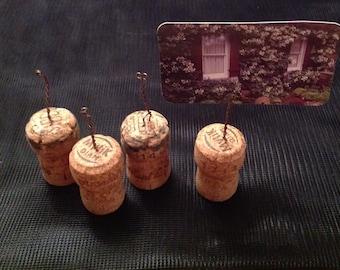 Champagne Cork Photo Holder