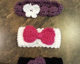 Shell stitch Butterfly Headband