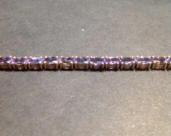 Gold plated tanzanite bracelet