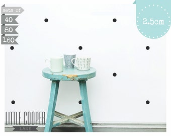 Polka Dots Circles 2.5CM Wall Decal Vinyl Sticker Spots_1 Inch Sets of 40 | 80 | 160_For Nursery OR Kids Room_ID#1303