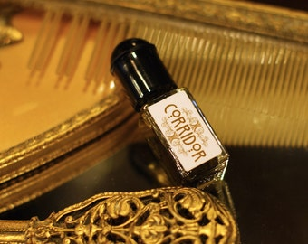 NATURAL perfume - CORRIDOR - amber moss jasmine incense tobacco - organic perfume by theater potion