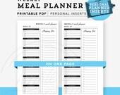 Weekly Meal Planner Personal Planner Printable, Personal planner inserts, Meal Plan, Personal Printable, Personal Planner INSTANT DOWNLOAD