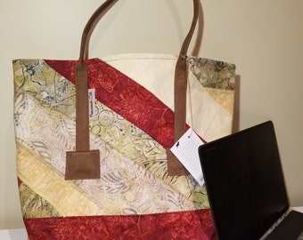 Large Tote Bag- Apple Tree