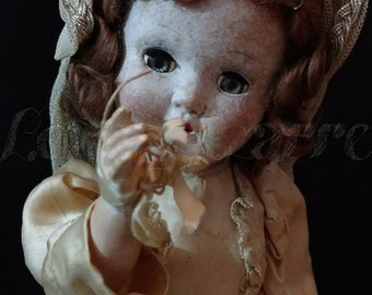Creepy Antique Horseman Bride Doll