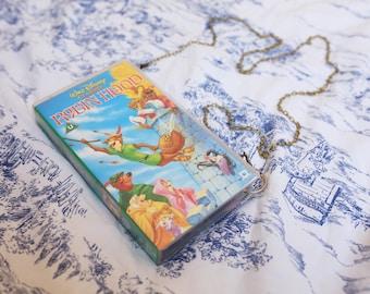 Disney's Robin Hood VHS shoulder bag, upcycled video case handbag, clutch, retro
