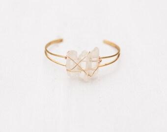 Wrapped Crystal Point Bracelet