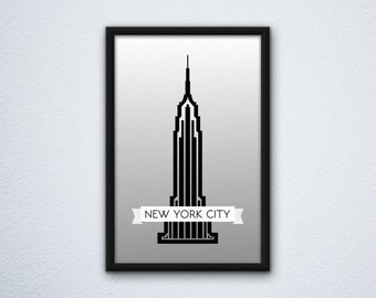 "New York City Empire State Building Poster (12"" x 18"")"
