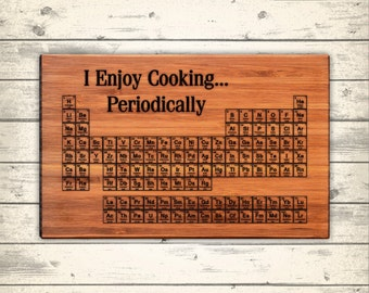 Items similar to periodic table cutting board science art geeky graduation gift chemistry - Periodic table chopping board ...