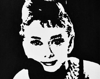 Audrey Hepburn Original Painting