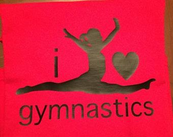 Gymnastics Shirt - I Love Gymnastics Shirt - Love Gymnastics - I Love Gymnastics T-Shirt - Gymnast Gift - I Heart Gymnastics -