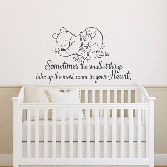 Winnie The Pooh Quotes Sometimes The Smallest Things: Winnie The Pooh Wall Decal Quote Sometimes The Smallest Things