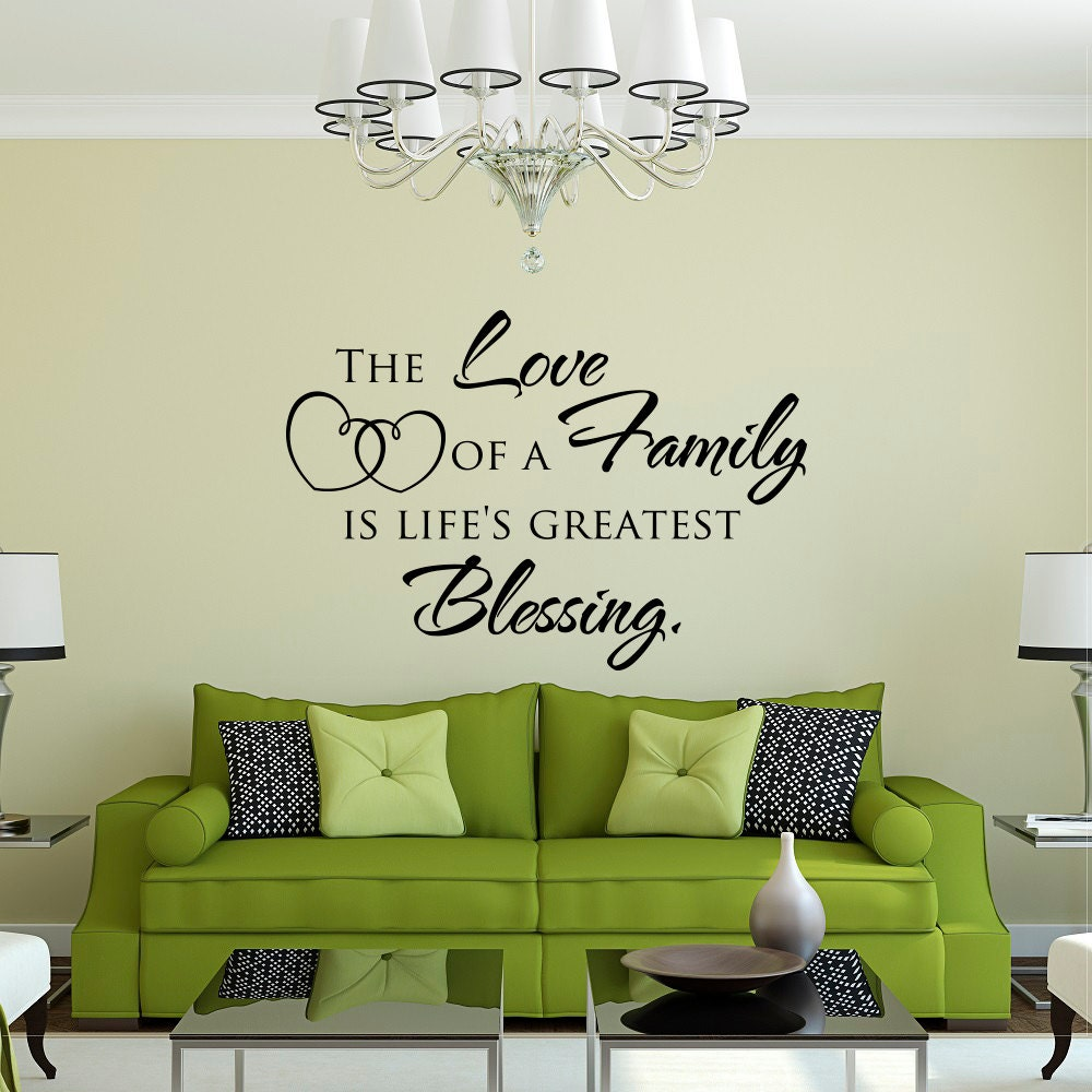 family wall decal quote family like branches on a tree vinyl family wall quote decal the love of a family is life s greatest blessing love