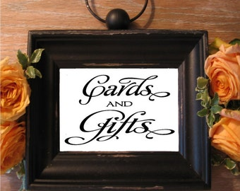 Wedding sign, Cards and Gifts, Calligraphy