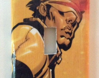 Cyclops X-Men Light Switch Cover Switchplate Decoupage Marvel Vintage Comic Book