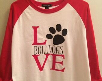 Choose Your Mascot--Bulldog Pride School Spirit Shirt