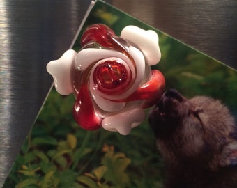 Glass Flower Fridge Magnet