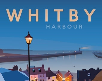 Whitby Railway Poster - Whitby Harbour