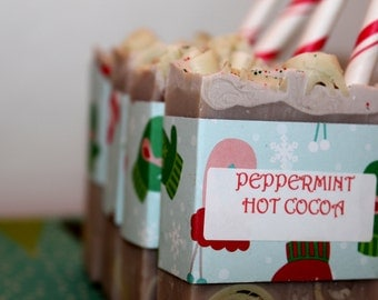 Frothy Peppermint Hot Cocoa Soap