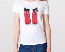 Hot Pink Heels Fashion T shirt, Pink stilettos Tee, Hot Pink High Heels Tee Shirt, Fashion Graphic Tshirt, Fashion Tee, Graphic TShirt