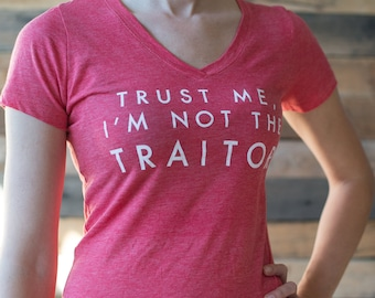 Trust Me, I'm not the Traitor Junior's cut board game shirt