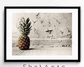 Pineapple Print Art, Wall Print Pineapple, Cute Pineapple, Tropical Pineapple, Pineapples Poster, Ananas Art, Ananas Print, Pineapple Photo