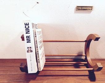 Stylish decorative book stand / bookcase / book • vintage modern 60s • gift • RAR! Mid century
